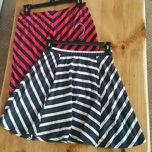 Midi / skater skirt bundle size small, Chevron